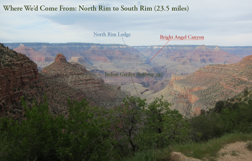 Just wanted to give you an idea of the scale and major landmarks. There's a reason it's called the GRAND Canyon.